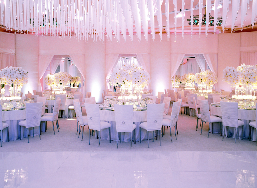 Glam Beverly Hills Hotel Crystal Ballroom Wedding