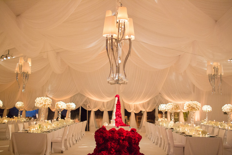 Immaculate White and Red Wedding Featured on Grace Ormonde1