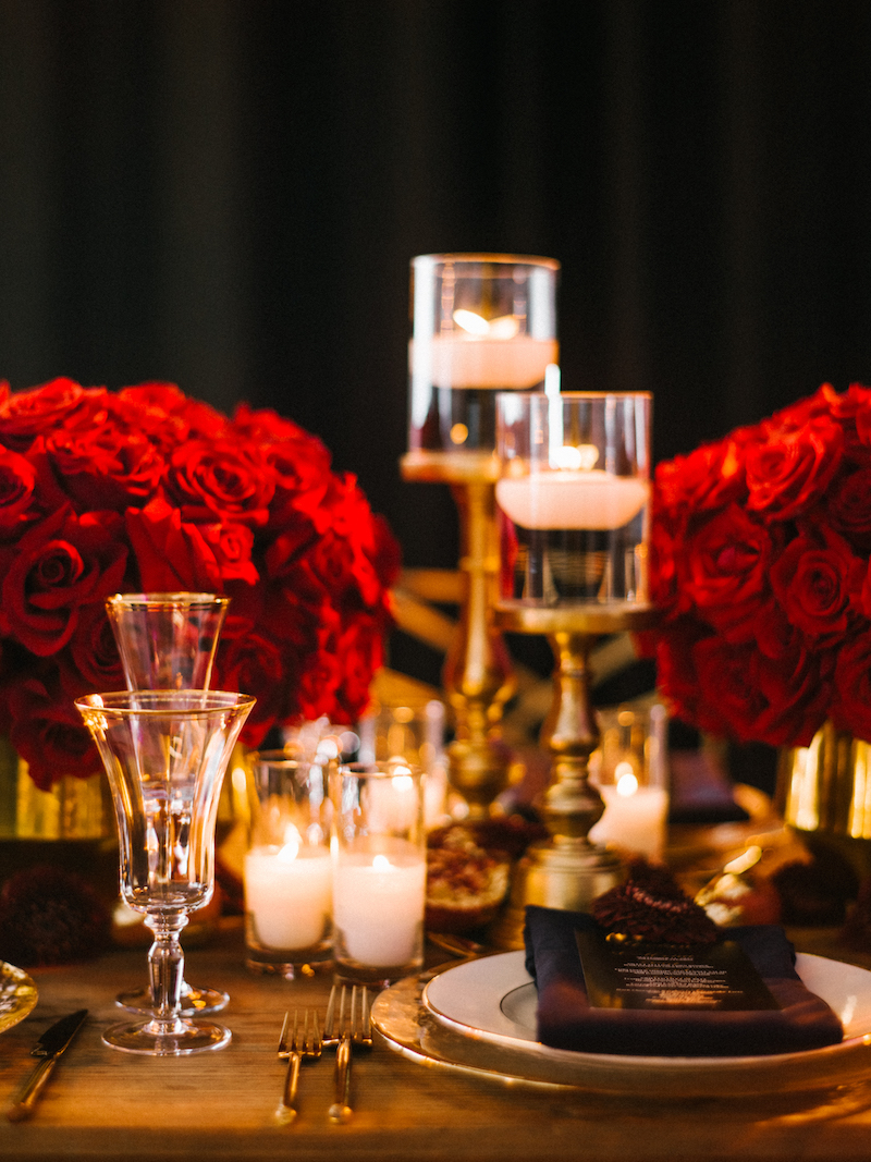 Luxurious Red And Gold Wedding Featured on Wedding Chicks