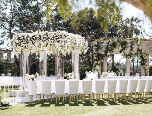 Outdoor Monarch Beach Resort Wedding Ceremony Featured in Inside Weddings