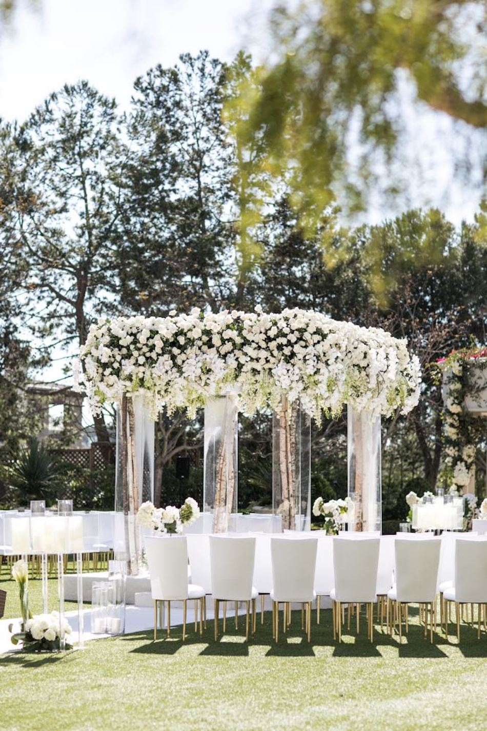 Outdoor Monarch Beach Resort Wedding Ceremony Featured in Inside Weddings