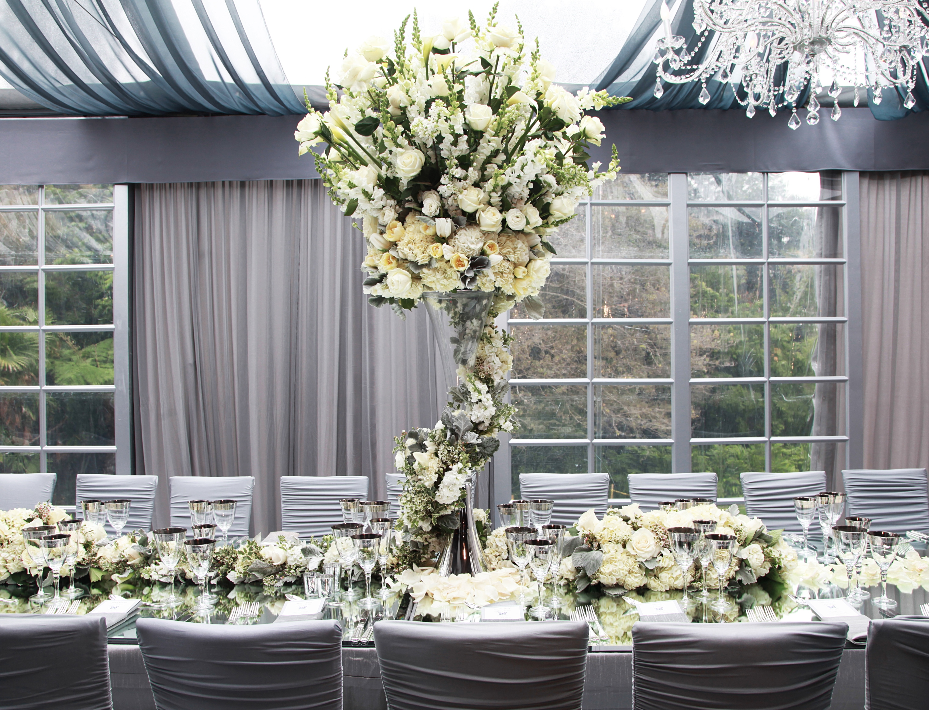 Lavish Monochromatic Wedding At The Huntington Library Home Weddings