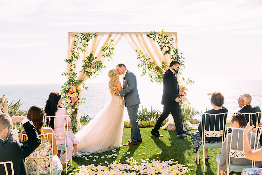 Colorful Coastal Laguna Niguel Wedding