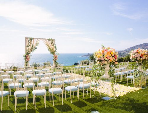 Colorful Coastal Laguna Niguel Wedding