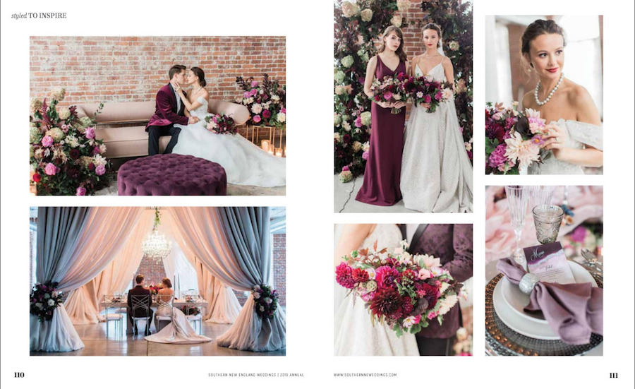 Burgundy Wedding Inspiration Featured in Southern New England Wedding Magazine18