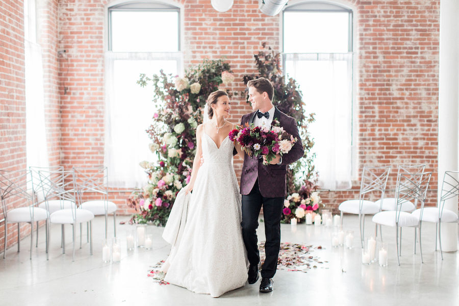 Burgundy Wedding Inspiration Featured in Southern New England Wedding Magazine