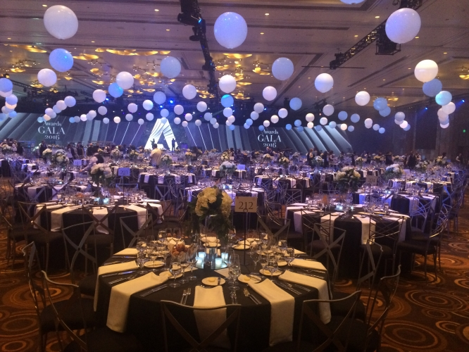 Banquet Halls In Las Vegas For Rent : Showcase events adobe gala las vegas aria mgm resorts