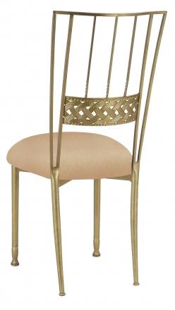 Gold Bella Braid with Beige Stretch Knit Cushion (1)