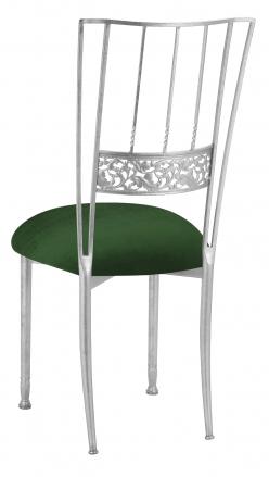 Silver Bella Fleur with Green Velvet Cushion (1)