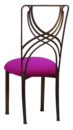 Bronze La Corde with Magenta Stretch Knit Cushion (1)