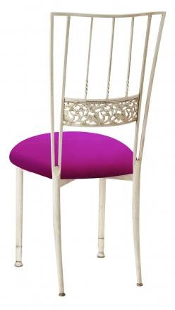 Ivory Bella Fleur with Magenta Stretch Knit Cushion (1)