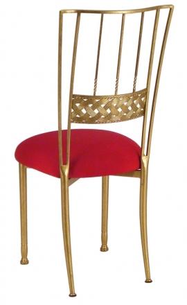 Gold Bella Braid with Red Stretch Knit Cushion (1)