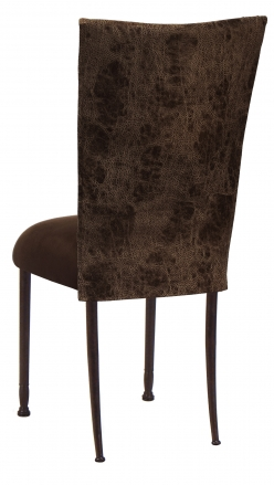 Durango Chocolate Leatherette with Chocolate Suede Cushion on Mahogany Legs (1)