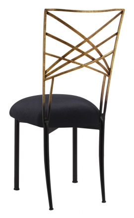 Two Tone Gold Fanfare with Black Velvet Cushion (1)