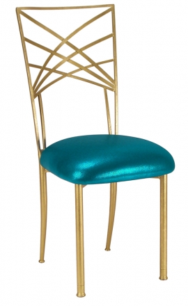 Gold Fanfare with Metallic Teal Cushion (2)