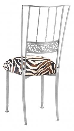 Silver Bella Fleur with Zebra Knit Cushion (1)