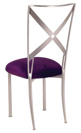 Simply X with Deep Purple Velvet Cushion (1)