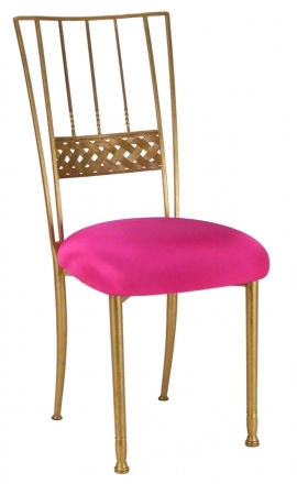 Gold Bella Braid with Hot Pink Stretch Knit Cushion (2)