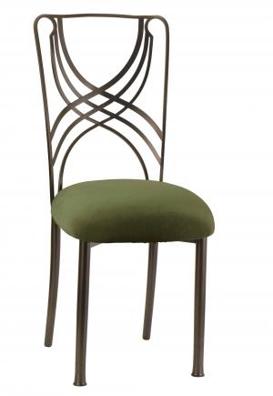Solar Bronze La Corde with Olive Velvet Cushion (2)