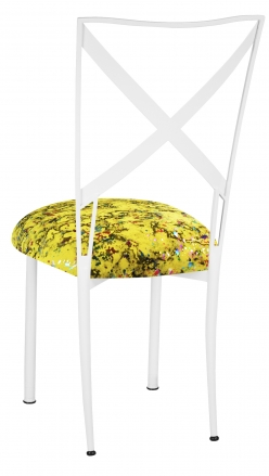 Simply X White with Yellow Paint Splatter Cushion (1)