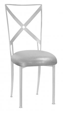 Simply X with Metallic Silver Stretch Knit Cushion (2)