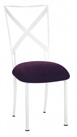 Simply X White with Eggplant Velvet Cushion (2)