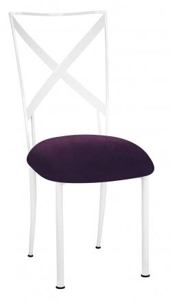 Simply X White with Eggplant Velvet Cushion (2)