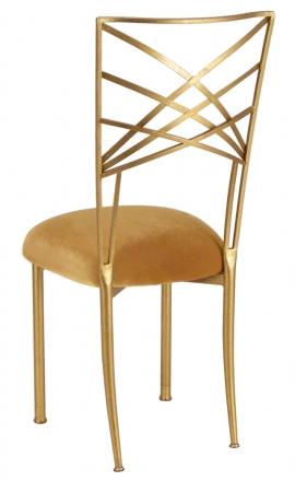Gold Fanfare with Gold Velvet Cushion (1)