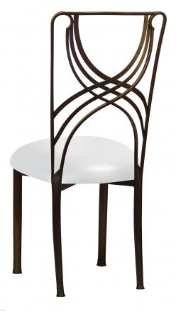 Bronze La Corde with Metallic Silver on White Stretch Knit Cushion (1)