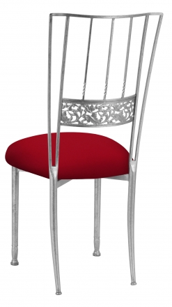 Silver Bella Fleur with Red Stretch Knit Cushion (1)