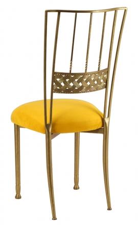 Gold Bella Braid with Canary Suede Cushion (1)