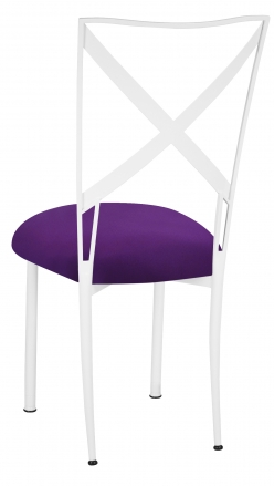 Simply X White with Plum Stretch Knit Cushion (1)