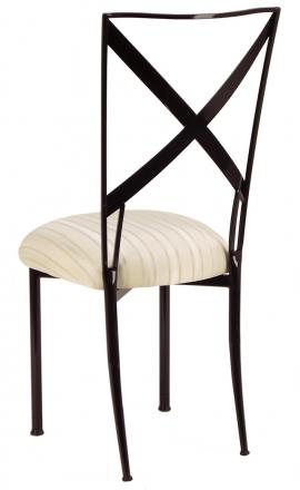 Blak. with Ivory Sateen Stripe Cushion (1)