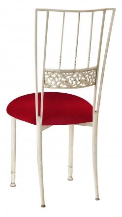 Ivory Bella Fleur with Red Velvet Cushion (1)