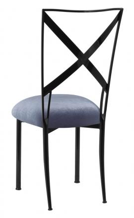 Blak. with Steel Velvet Cushion (1)