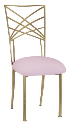 Gold Fanfare with Soft Pink Velvet Cushion (2)