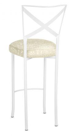 Simply X White Barstool with Victoriana Boxed Cushion (1)