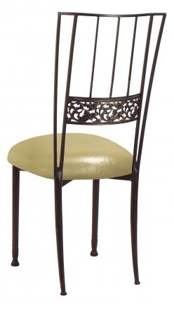 Mahogany Bella Fleur with Metallic Gold Stretch Knit Cushion (1)