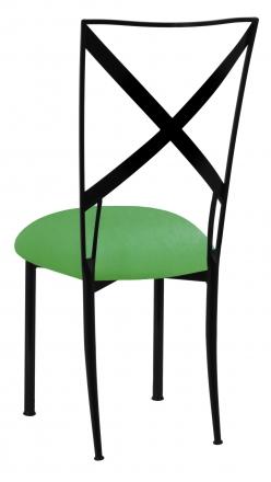 Blak. with Kelly Green Stretch Cushion (1)