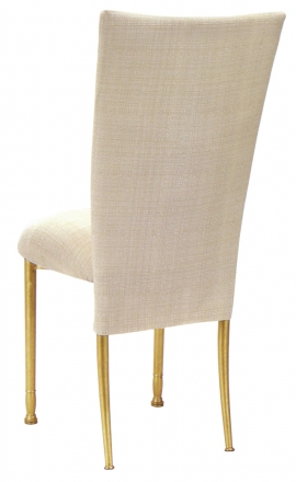 Parchment Linette Chair Cover and Cushion on Gold Legs (1)