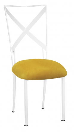 Simply X White with Canary Suede Cushion (2)