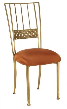 Gold Bella Braid with Copper Stretch Knit Cushion (2)