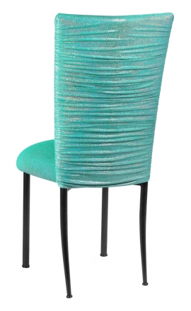Chloe Mermaid Stretch Knit Chair Cover and Cushion on Black Legs (1)