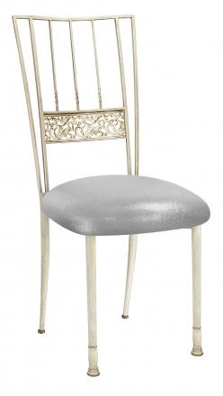 Ivory Bella Fleur with Metallic Silver Stretch Knit Cushion (2)