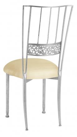 Silver Bella Fleur with Champagne Metallic Knit Cushion (1)
