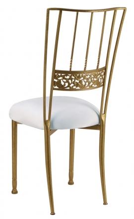 Gold Bella Fleur with White Stretch Knit Cushion (1)