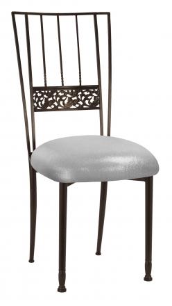 Mahogany Bella Fleur with Metallic Silver Stretch Knit Cushion (2)