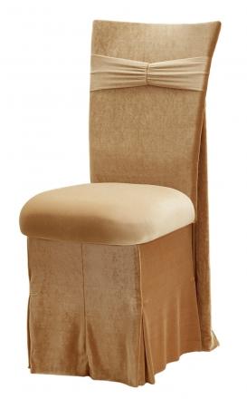 ... Gold Velvet Empire Chair Cover, Gold Velvet Cushion And Gold Velvet  Skirt (2)