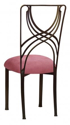 Bronze La Corde with Raspberry Suede Cushion (1)