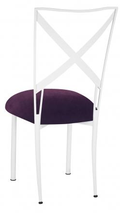 Simply X White with Eggplant Velvet Cushion (1)